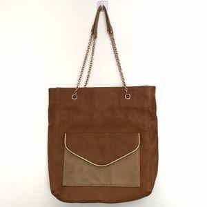 [BIGBUDDHA] Tan shoulder bag w gold chain handles